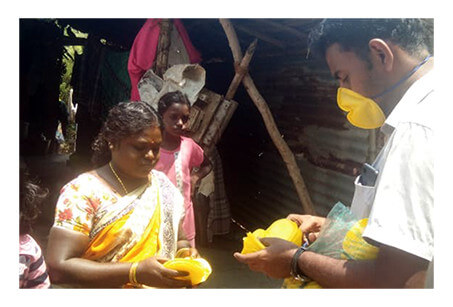 210 hand sanitisers distributed 538 masks distributed